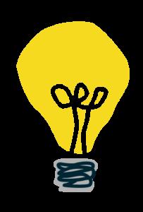 illustratie van lampje, heb je een idee? de Waarmakerij in Raalte helpt je verder